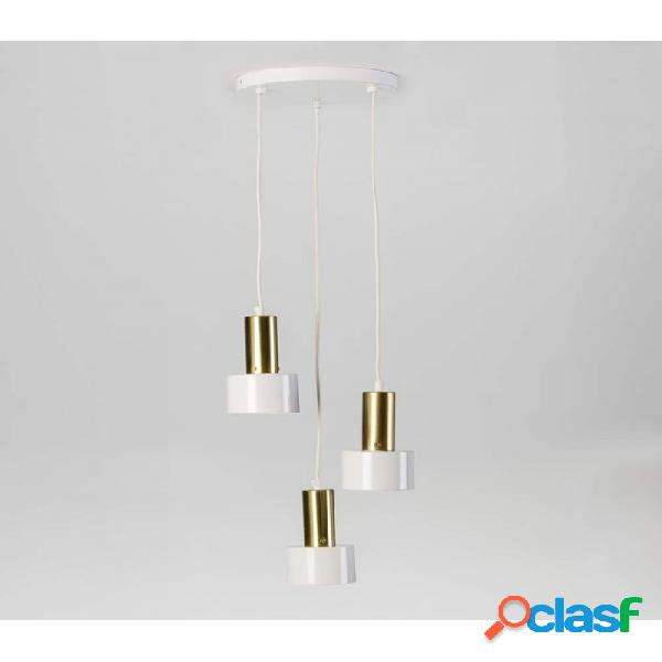 Lámpara Techo Blanco Metal Moderno 26x11x77