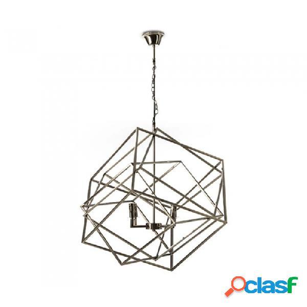 Lámpara Techo Blanco Metal Moderno 50x50
