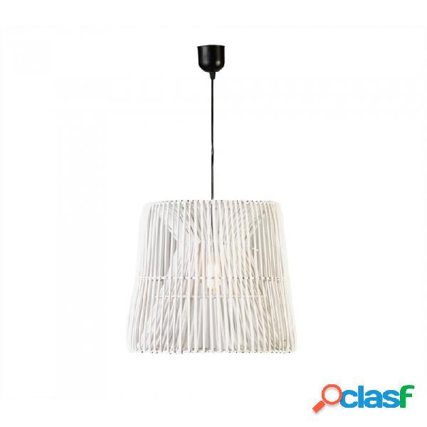 Lámpara Techo Blanco Mimbre 41x41x41