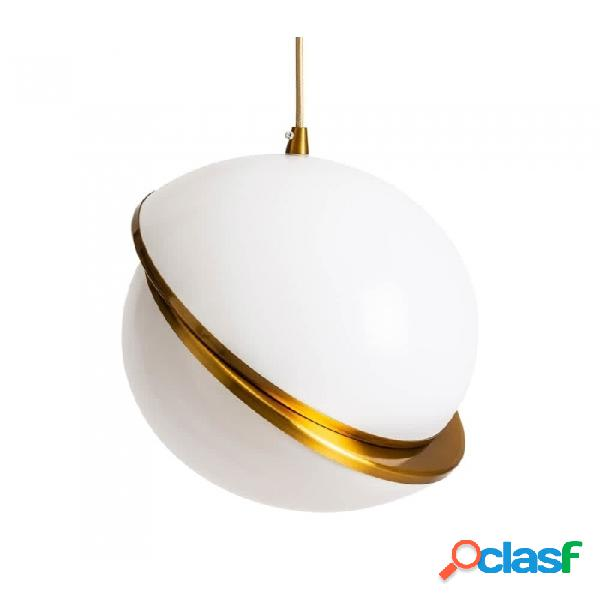 Lámpara Techo Blanco Oro Pvc 30 X 33