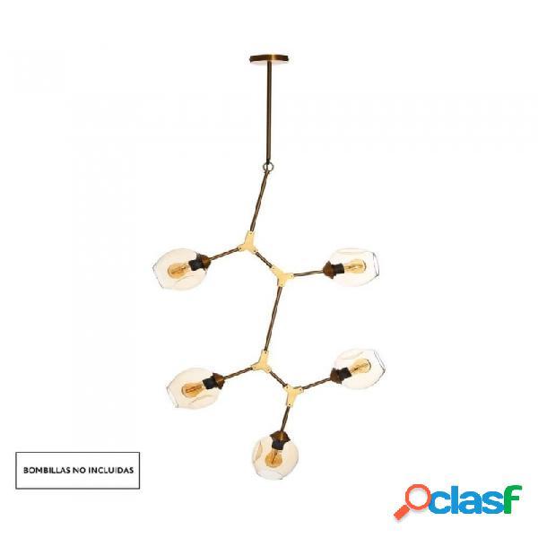 Lámpara Techo Bronce Cristal Metal Y 80 X 160