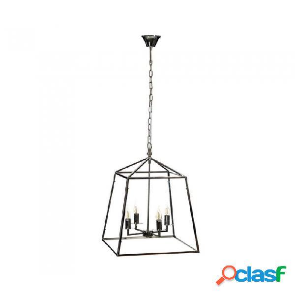 Lámpara Techo Cristal Plata Metal Y Provenzal 46 X 68