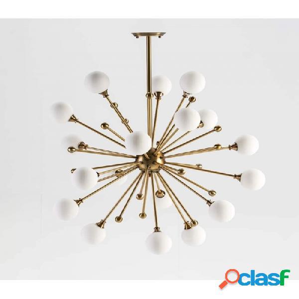 Lámpara Techo Cristal Y Metal Moderno 70x70x113