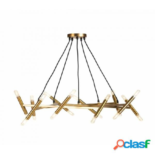 Lámpara Techo Dorado Metal 85x85x14