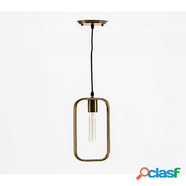 Lámpara Techo Dorado Metal Moderno 16x4x33