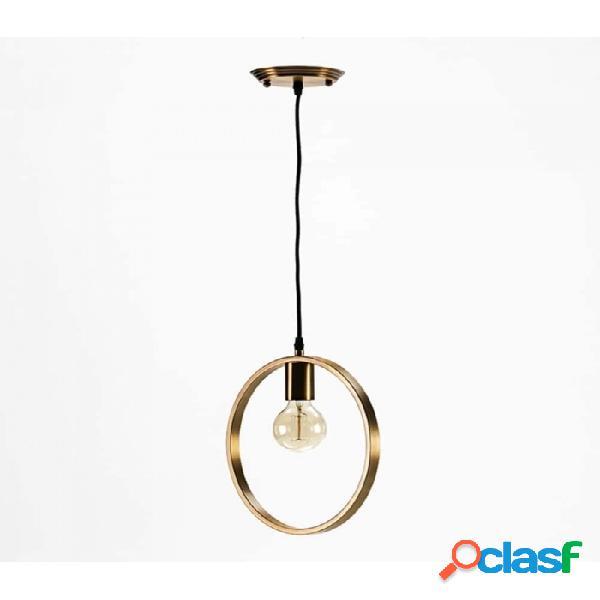 Lámpara Techo Dorado Metal Moderno 30x4x31