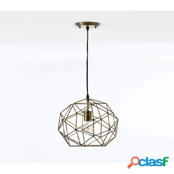 Lámpara Techo Dorado Metal Moderno 32x30