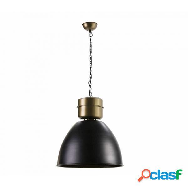 Lámpara Techo Dorado Negro Metal 46x46x54