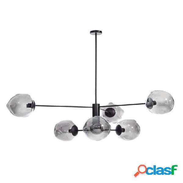 Lámpara Techo Novedades012019 Negro Cristal Metal Y Nordico