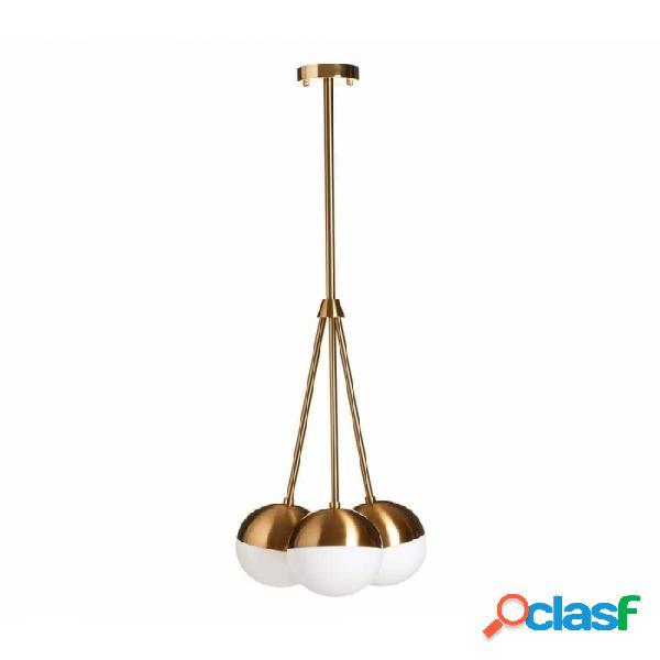 Lámpara Techo Oro Blanco Cristal Metal Y 40.00 X 45.00