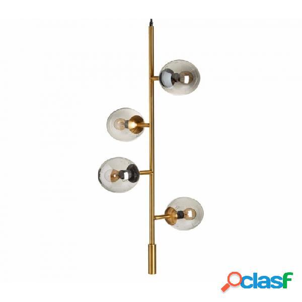 Lámpara Techo Oro Gris Cristal Metal Y 40.00 X 120.00