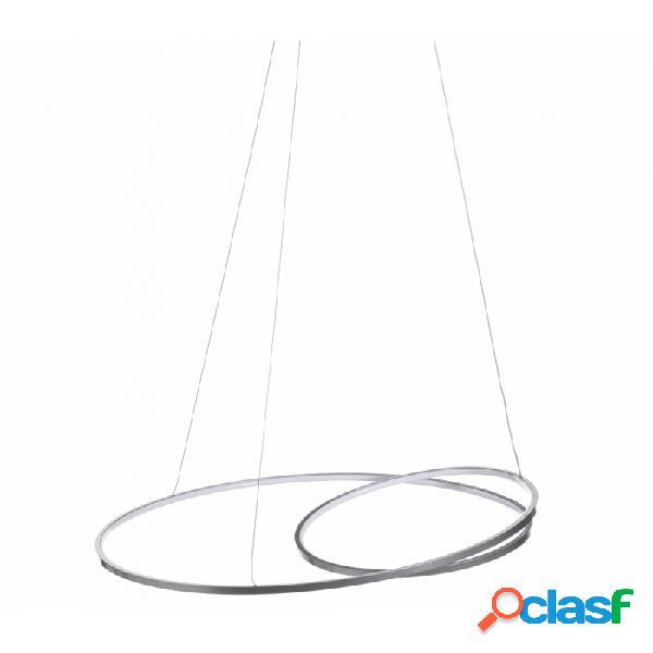 Lámpara Techo Plata Y Metal Moderno 60.00 X 120.00