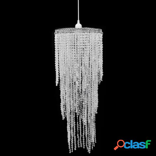 Lámpara colgante elegante con cristales, 26 x 70 cm