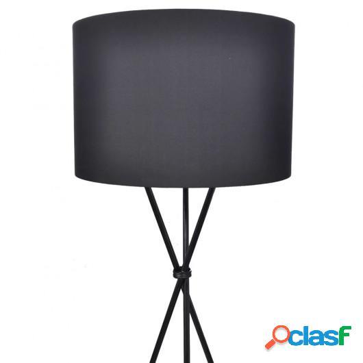 Lámpara de pie con pantalla y soporte negra