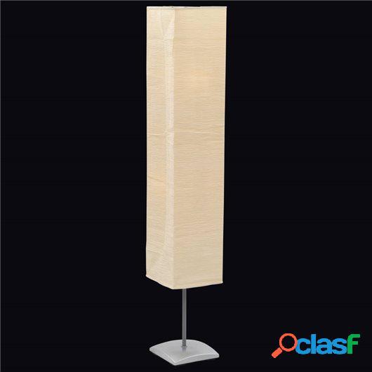 Lámpara de pie con soporte de acero 135 cm beige