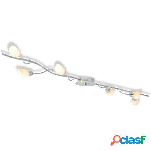 Lámpara de techo con 6 bombillas LED G9 240 W