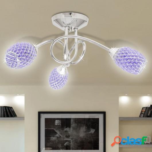 Lámpara de techo con tres focos ovales de cristal acrílico