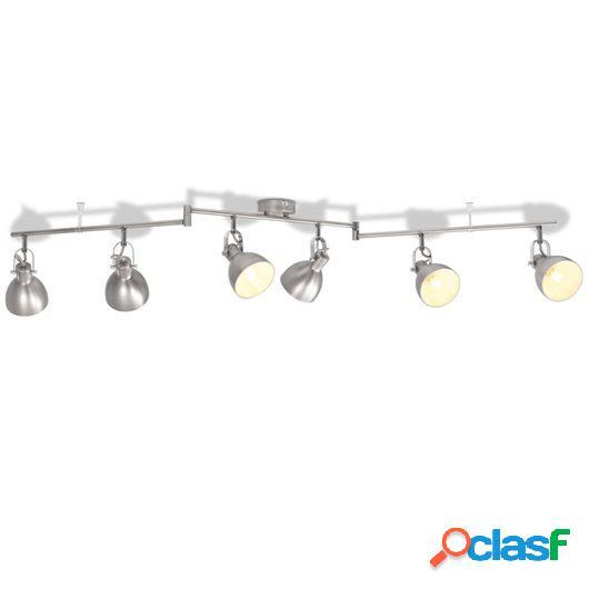 Lámpara de techo para 6 bombillas E14 gris