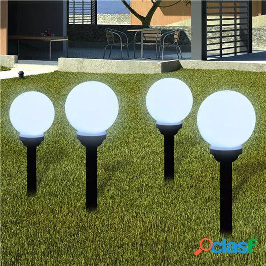 Lámpara solar de jardín en forma de bola con LED, 15 cm, 4