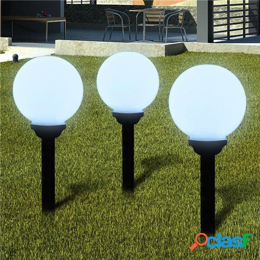 Lámpara solar de jardín en forma de bola con LED, 20 cm, 3