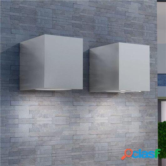 Lámparas de pared cúbicas para exteriores 2 piezas