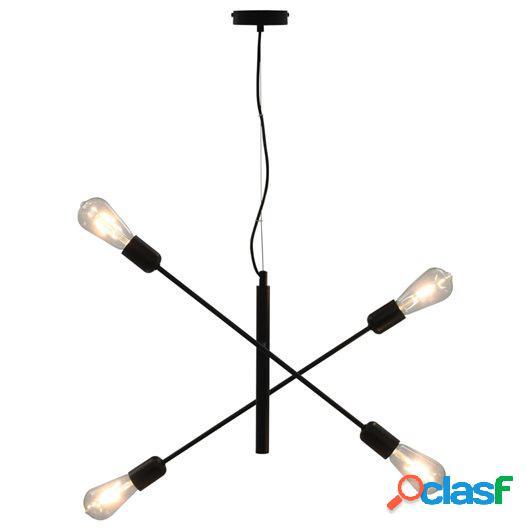 Lámparas de techo con bombillas de filamento 2 W negro E27