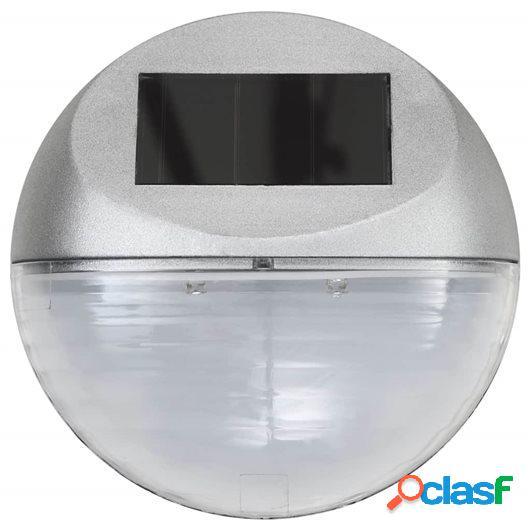 Lámparas solares LED de pared exterior 12 uds redondas