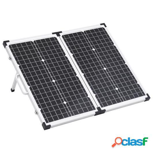 Maletín con panel solar plegable 60 W 12 V