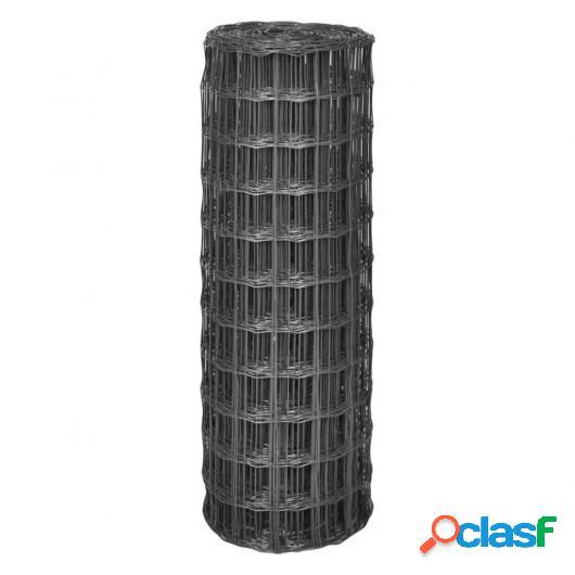 Malla de acero Euro Fence gris 10x1,2 m/100x100 mm