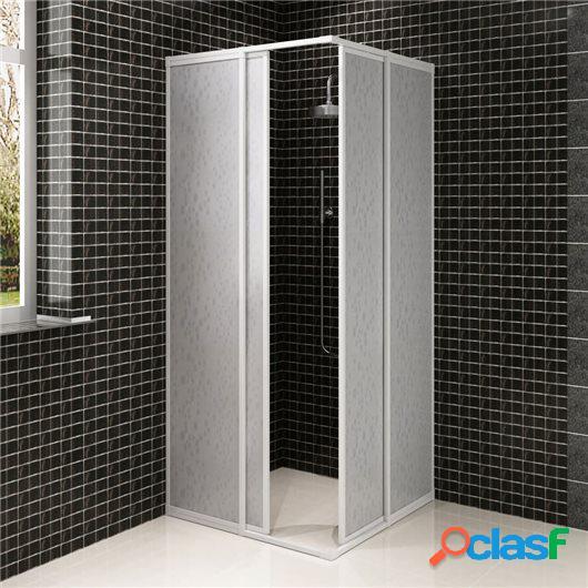 Mampara de ducha con marco de aluminio, 80 x 80 cm