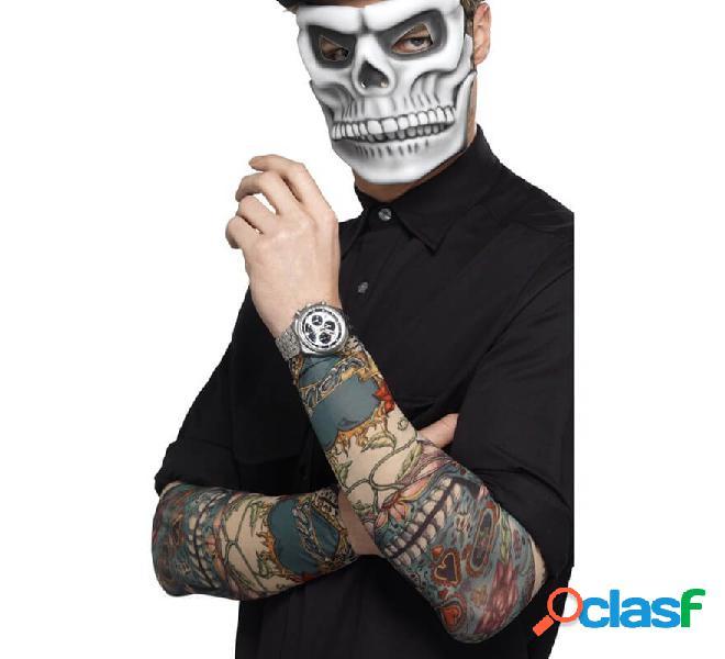 Manga de Tatuaje del Día de muertos en varios colores 2und