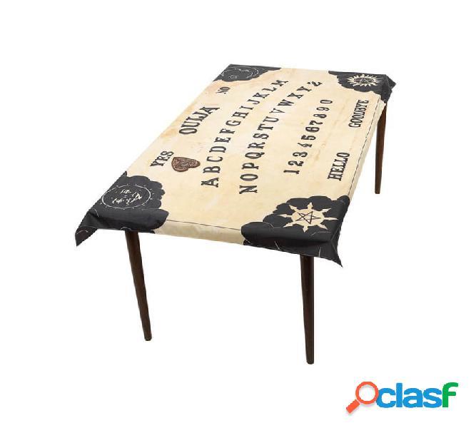 Mantel con tablero de Ouija y posavasos 195x115cm