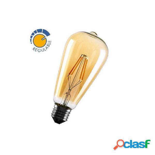 MasterLed - Bombilla con filamento LED EDISON OLD de 6W