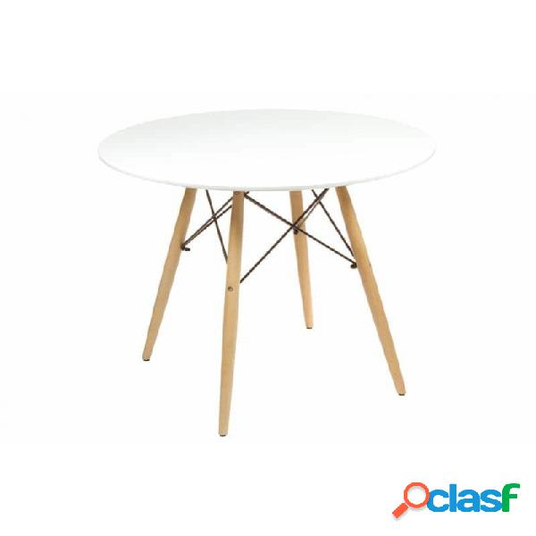 Mesa Blanco Moderno 80 X 75