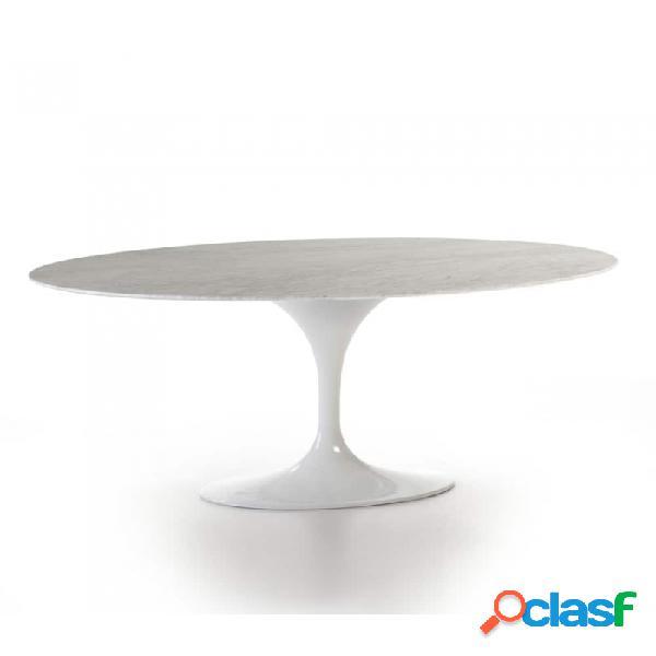 Mesa Comedor Aluminio Blanco Marmol Y 170x110x73
