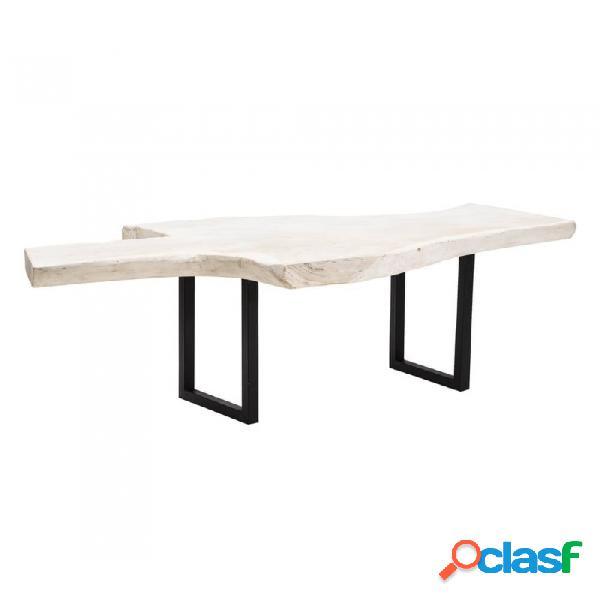 Mesa Comedor Blanco Madera Rustico 232 X 116 75