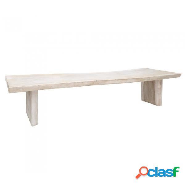 Mesa Comedor Blanco Madera Rustico 300 X 80 75