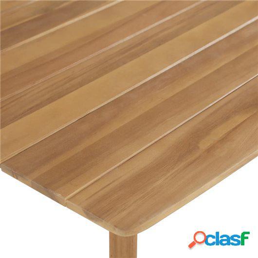 Mesa alta de bar de madera de acacia maciza 120x60x105 cm