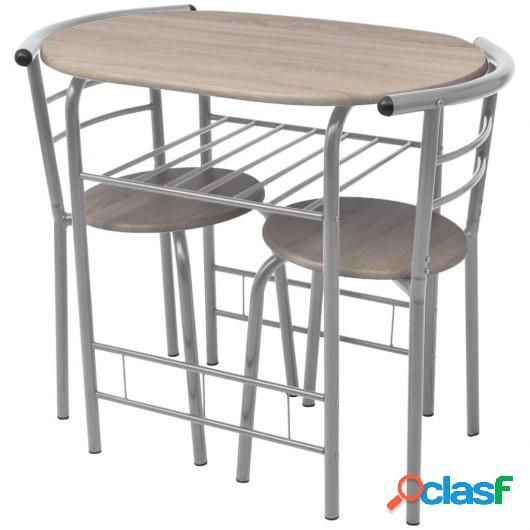 Mesa alta de cocina o bar y taburetes MDF