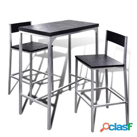 Mesa alta y taburetes de bar o cocina