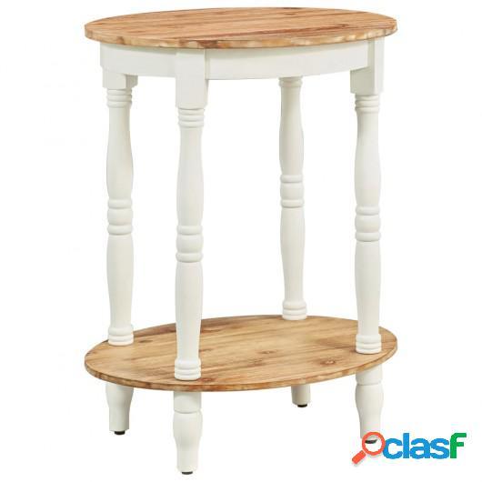 Mesa auxiliar de madera maciza de acacia 50x40x66 cm