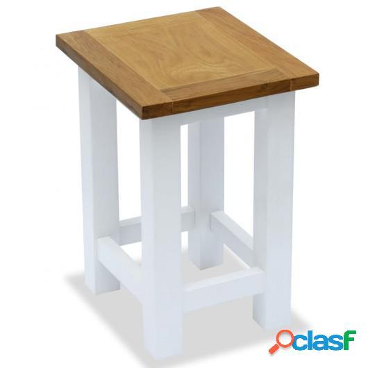 Mesa auxiliar de madera maciza de roble 27x24x37 cm