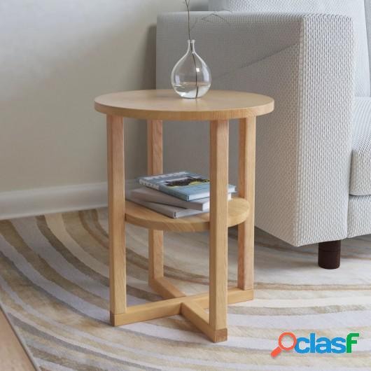 Mesa auxiliar de madera maciza de roble 40x50 cm