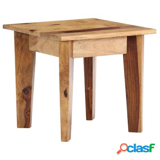 Mesa auxiliar de madera maciza de sheesham 43x43x40 cm