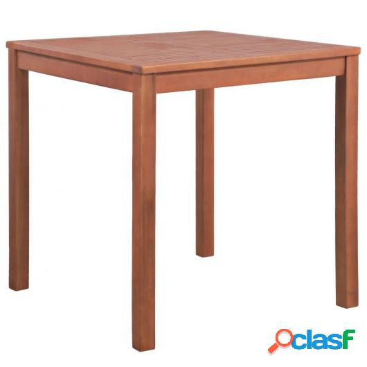 Mesa comedor jardín cuadrada madera maciza acacia 80x80x74