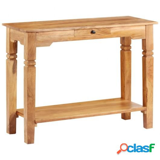 Mesa consola 100x40x76 cm madera acacia maciza