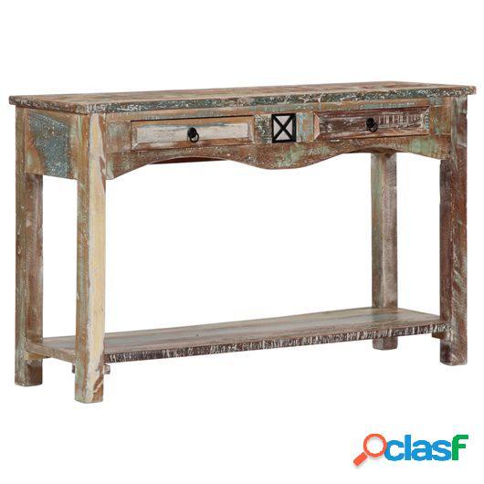 Mesa consola 120x40x75 cm madera maciza reciclada