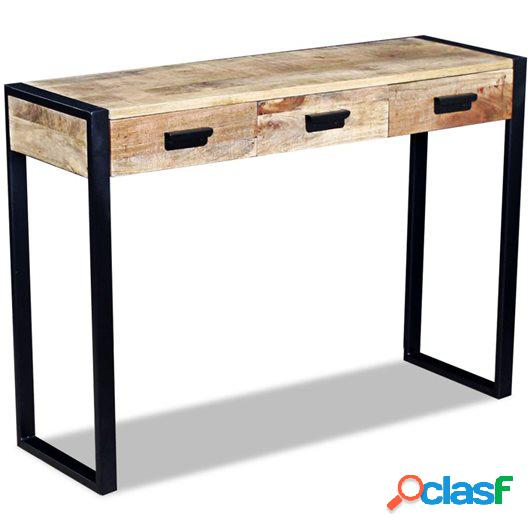 Mesa consola con 3 cajones madera de mango 43x33x51 cm