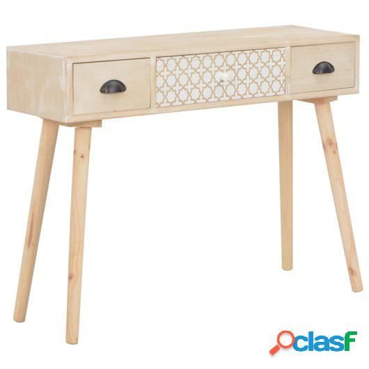 Mesa consola con 3 cajones madera maciza de pino 100x30x73