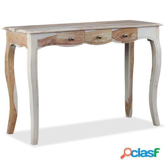 Mesa consola con 3 cajones madera maciza sheesham 110x40x76